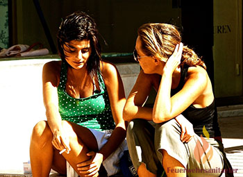 Girls talking